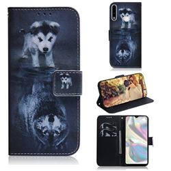 Wolf and Dog PU Leather Wallet Case for Samsung Galaxy A70e