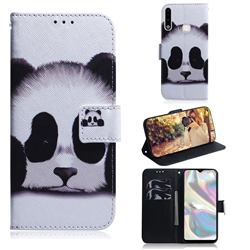 Sleeping Panda PU Leather Wallet Case for Samsung Galaxy A70e