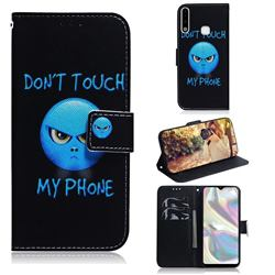 Not Touch My Phone PU Leather Wallet Case for Samsung Galaxy A70e