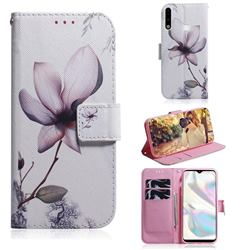 Magnolia Flower PU Leather Wallet Case for Samsung Galaxy A70e