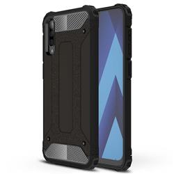 King Kong Armor Premium Shockproof Dual Layer Rugged Hard Cover for Samsung Galaxy A70s - Black Gold