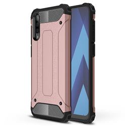 King Kong Armor Premium Shockproof Dual Layer Rugged Hard Cover for Samsung Galaxy A70s - Rose Gold
