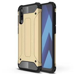 King Kong Armor Premium Shockproof Dual Layer Rugged Hard Cover for Samsung Galaxy A70s - Champagne Gold