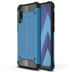 King Kong Armor Premium Shockproof Dual Layer Rugged Hard Cover for Samsung Galaxy A70s - Sky Blue