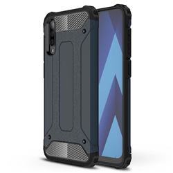 King Kong Armor Premium Shockproof Dual Layer Rugged Hard Cover for Samsung Galaxy A70s - Navy