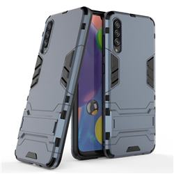 Armor Premium Tactical Grip Kickstand Shockproof Dual Layer Rugged Hard Cover for Samsung Galaxy A70s - Navy