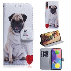 Pug Dog PU Leather Wallet Case for Samsung Galaxy A70s