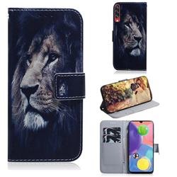 Lion Face PU Leather Wallet Case for Samsung Galaxy A70s