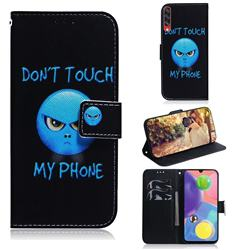 Not Touch My Phone PU Leather Wallet Case for Samsung Galaxy A70s