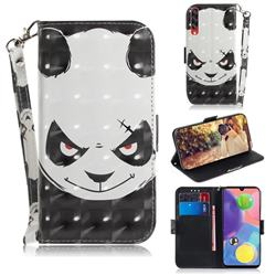 Angry Bear 3D Painted Leather Wallet Phone Case for Samsung Galaxy A70s