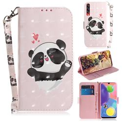 Heart Cat 3D Painted Leather Wallet Phone Case for Samsung Galaxy A70s