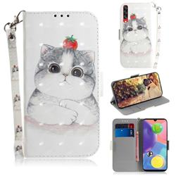 Cute Tomato Cat 3D Painted Leather Wallet Phone Case for Samsung Galaxy A70s