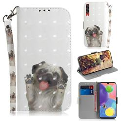 Pug Dog 3D Painted Leather Wallet Phone Case for Samsung Galaxy A70s