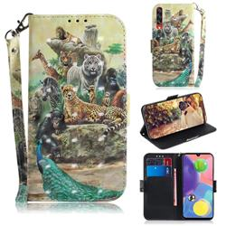 Beast Zoo 3D Painted Leather Wallet Phone Case for Samsung Galaxy A70s
