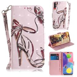 Butterfly High Heels 3D Painted Leather Wallet Phone Case for Samsung Galaxy A70s