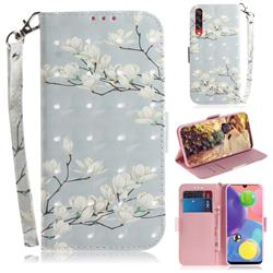 Magnolia Flower 3D Painted Leather Wallet Phone Case for Samsung Galaxy A70s