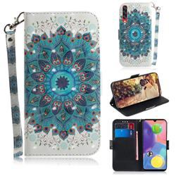 Peacock Mandala 3D Painted Leather Wallet Phone Case for Samsung Galaxy A70s
