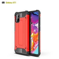 King Kong Armor Premium Shockproof Dual Layer Rugged Hard Cover for Samsung Galaxy A71 4G - Big Red
