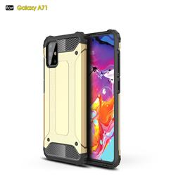 King Kong Armor Premium Shockproof Dual Layer Rugged Hard Cover for Samsung Galaxy A71 4G - Champagne Gold