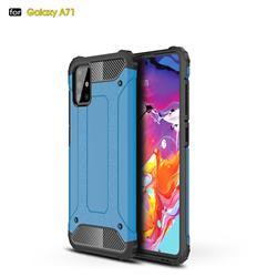 King Kong Armor Premium Shockproof Dual Layer Rugged Hard Cover for Samsung Galaxy A71 4G - Sky Blue