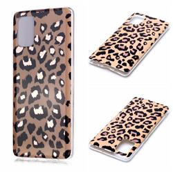 Leopard Galvanized Rose Gold Marble Phone Back Cover for Samsung Galaxy A71 4G