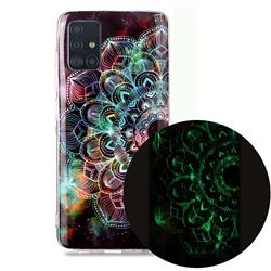 Datura Flowers Noctilucent Soft TPU Back Cover for Samsung Galaxy A71 4G