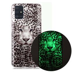 Leopard Tiger Noctilucent Soft TPU Back Cover for Samsung Galaxy A71 4G