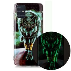 Wolf King Noctilucent Soft TPU Back Cover for Samsung Galaxy A71 4G