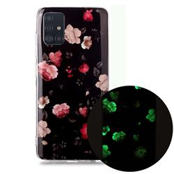 Rose Flower Noctilucent Soft TPU Back Cover for Samsung Galaxy A71 4G