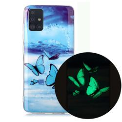 Flying Butterflies Noctilucent Soft TPU Back Cover for Samsung Galaxy A71 4G