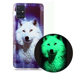 Galaxy Wolf Noctilucent Soft TPU Back Cover for Samsung Galaxy A71