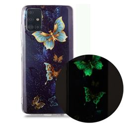 Golden Butterflies Noctilucent Soft TPU Back Cover for Samsung Galaxy A71 4G