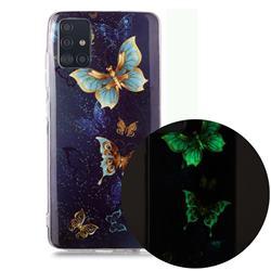 Golden Butterflies Noctilucent Soft TPU Back Cover for Samsung Galaxy A71
