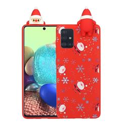 Snowflakes Gloves Christmas Xmax Soft 3D Doll Silicone Case for Samsung Galaxy A71 4G