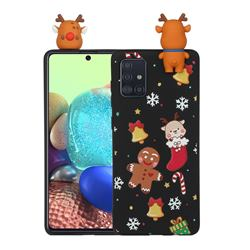 Gift Snow Christmas Xmax Soft 3D Doll Silicone Case for Samsung Galaxy A71 4G