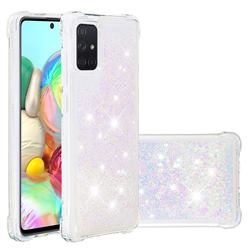 Dynamic Liquid Glitter Sand Quicksand Star TPU Case for Samsung Galaxy A71 4G - Pink