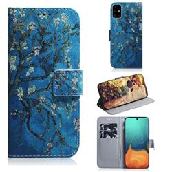 Apricot Tree PU Leather Wallet Case for Samsung Galaxy A71 4G