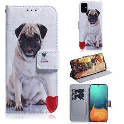 Pug Dog PU Leather Wallet Case for Samsung Galaxy A71 4G