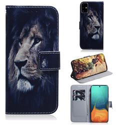 Lion Face PU Leather Wallet Case for Samsung Galaxy A71 4G