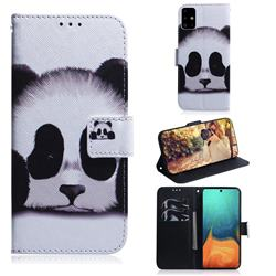 Sleeping Panda PU Leather Wallet Case for Samsung Galaxy A71 4G