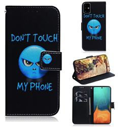 Not Touch My Phone PU Leather Wallet Case for Samsung Galaxy A71 4G