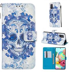 Cloud Kito 3D Painted Leather Wallet Case for Samsung Galaxy A71 4G