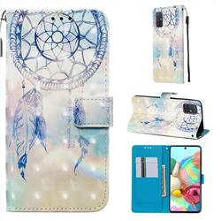 Fantasy Campanula 3D Painted Leather Wallet Case for Samsung Galaxy A71 4G