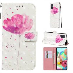 Watercolor 3D Painted Leather Wallet Case for Samsung Galaxy A71 4G