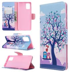 Tree and Owls Leather Wallet Case for Samsung Galaxy A71 4G