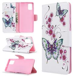 Peach Butterflies Leather Wallet Case for Samsung Galaxy A71 4G