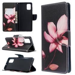 Lotus Flower Leather Wallet Case for Samsung Galaxy A71 4G