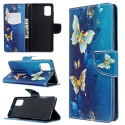 Golden Butterflies Leather Wallet Case for Samsung Galaxy A71 4G