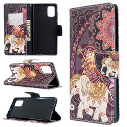 Totem Flower Elephant Leather Wallet Case for Samsung Galaxy A71 4G