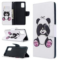 Lovely Panda Leather Wallet Case for Samsung Galaxy A71 4G